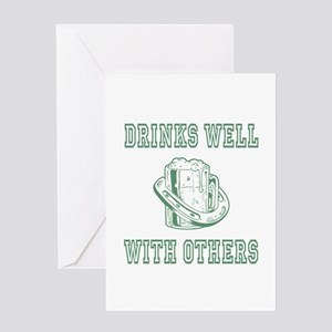 Drinks well with others | St Patricks Greeting Car