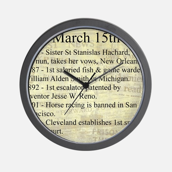 March 15th Wall Clock