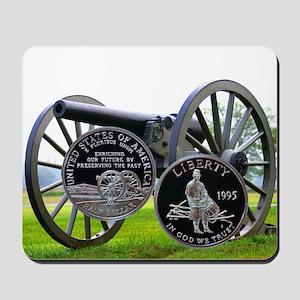 1995 Civil War Half Dollar Mousepad