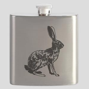 Jackrabbit (illustration) Flask
