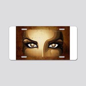 Steampunk Girl Eyes Aluminum License Plate
