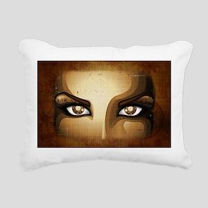 Steampunk Girl Eyes Rectangular Canvas Pillow