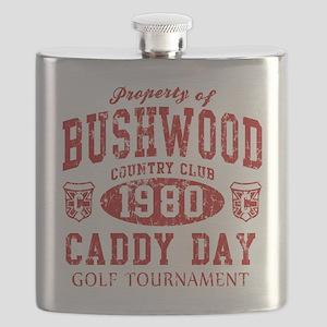 Caddyshack Bushwood Caddy Day t shirt Flask