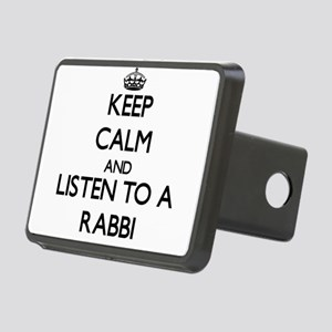 Keep Calm and Listen to a Rabbi Hitch Cover