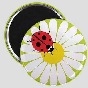 Daisy Ladybug Magnets