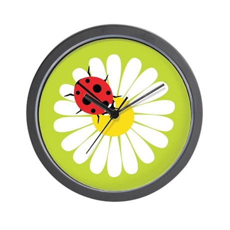Daisy Ladybug Wall Clock