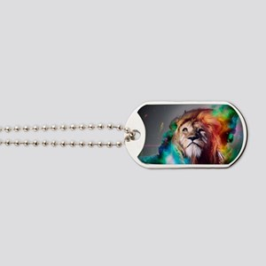 flaming lion Dog Tags