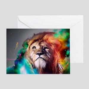 flaming lion Greeting Card