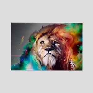 flaming lion Rectangle Magnet