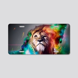 flaming lion Aluminum License Plate