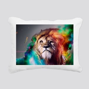 flaming lion Rectangular Canvas Pillow