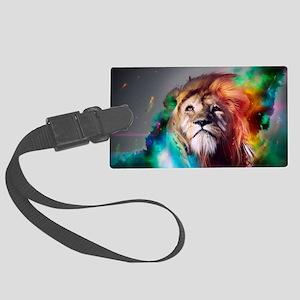 flaming lion Large Luggage Tag
