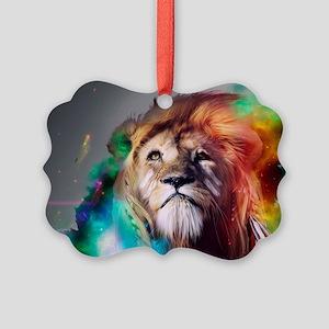 flaming lion Picture Ornament