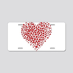 Heart of Ladybugs Aluminum License Plate