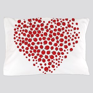 Heart of Ladybugs Pillow Case