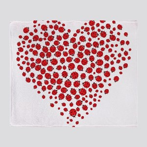Heart of Ladybugs Throw Blanket