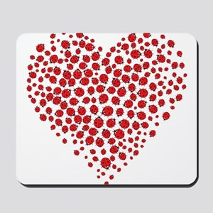 Heart of Ladybugs Mousepad