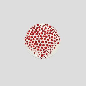 Heart of Ladybugs Mini Button
