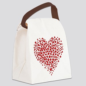 Heart of Ladybugs Canvas Lunch Bag