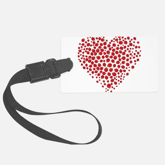 Heart of Ladybugs Luggage Tag