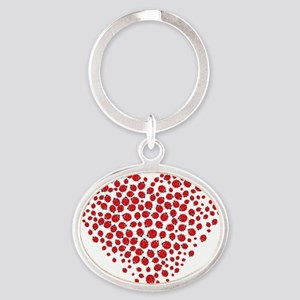 Heart of Ladybugs Keychains