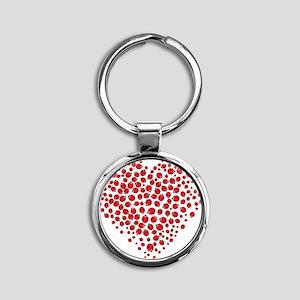 Heart of Ladybugs Keychains