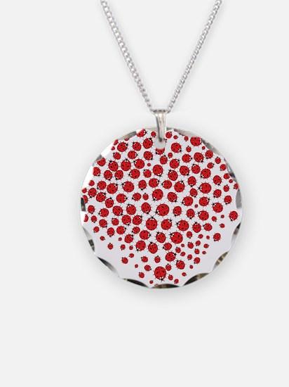 Heart of Ladybugs Necklace