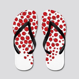 Heart of Ladybugs Flip Flops