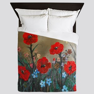 Poppy Garden Love Queen Duvet