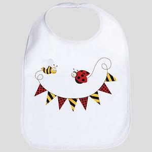 ladybug and bee Bib