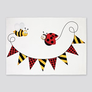 ladybug and bee 5'x7'Area Rug
