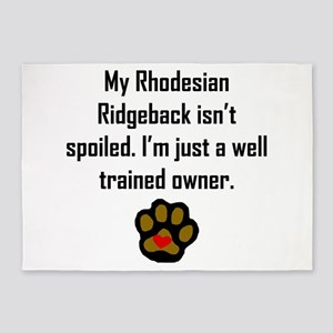 Well Trained Rhodesian Ridgeback Owner 5'x7'Area R