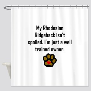 Well Trained Rhodesian Ridgeback Owner Shower Curt