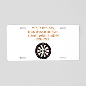 darts Aluminum License Plate