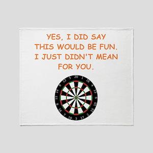 darts Throw Blanket