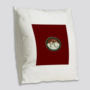 Park City Mountain Logo Burlap Throw Pillow