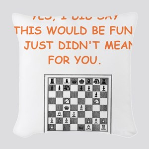 chess Woven Throw Pillow