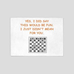 chess 5'x7'Area Rug