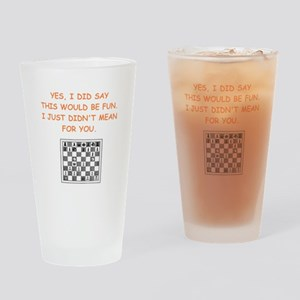 chess Drinking Glass