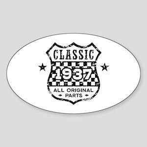 Classic 1937 Sticker (Oval)