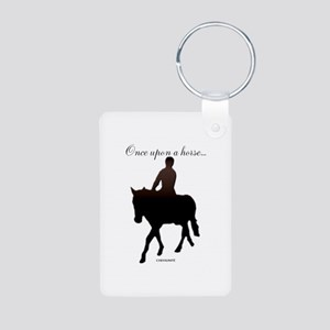 Horse Theme Design #56000 Aluminum Photo Keychain