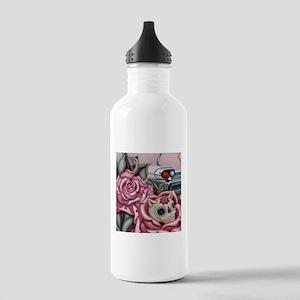 SUGAR SKULL ROSES Water Bottle