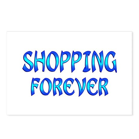 Shopping Forever Postcards (Package of 8)