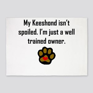 Well Trained Keeshond Owner 5'x7'Area Rug