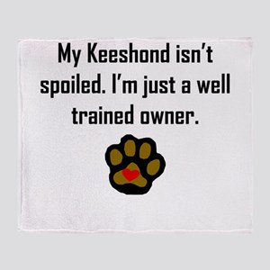 Well Trained Keeshond Owner Throw Blanket