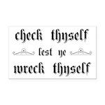 Check Thyself Lest Ye Wreck T Rectangle Car Magnet
