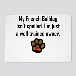 Well Trained French Bulldog Owner 5'x7'Area Rug
