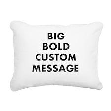 design Rectangular Canvas Pillow