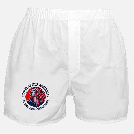 Proud Native American (Columbus) Boxer Shorts