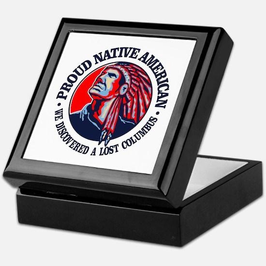 Proud Native American (Columbus) Keepsake Box